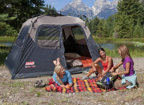 This Coleman 6 Person Instant Cabin Tent Is A Very Popular Family Tent. It  Is Really Quick And Easy To Set Up Thanks To The Pre Attached Poles Pole  System ...